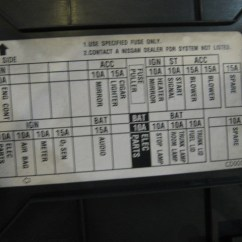 2002 Nissan Altima Fuse Diagram Working Of Laser Printer With 2003 350z Lh Kick/fuse Panel In Avon, Mn 56310 Pb#21520