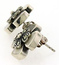 Opal Sterling Silver Earrings | usauctiononline.com