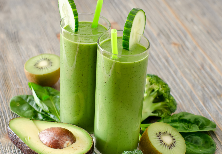 Arte Journal Culture Two Portions Of Green Smoothie In Glasses With Avocado