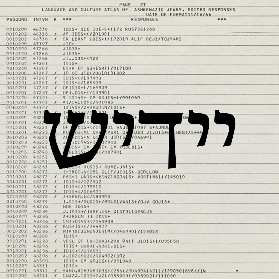 Yiddish Linguistics and Digital Humanities: A Conversation
