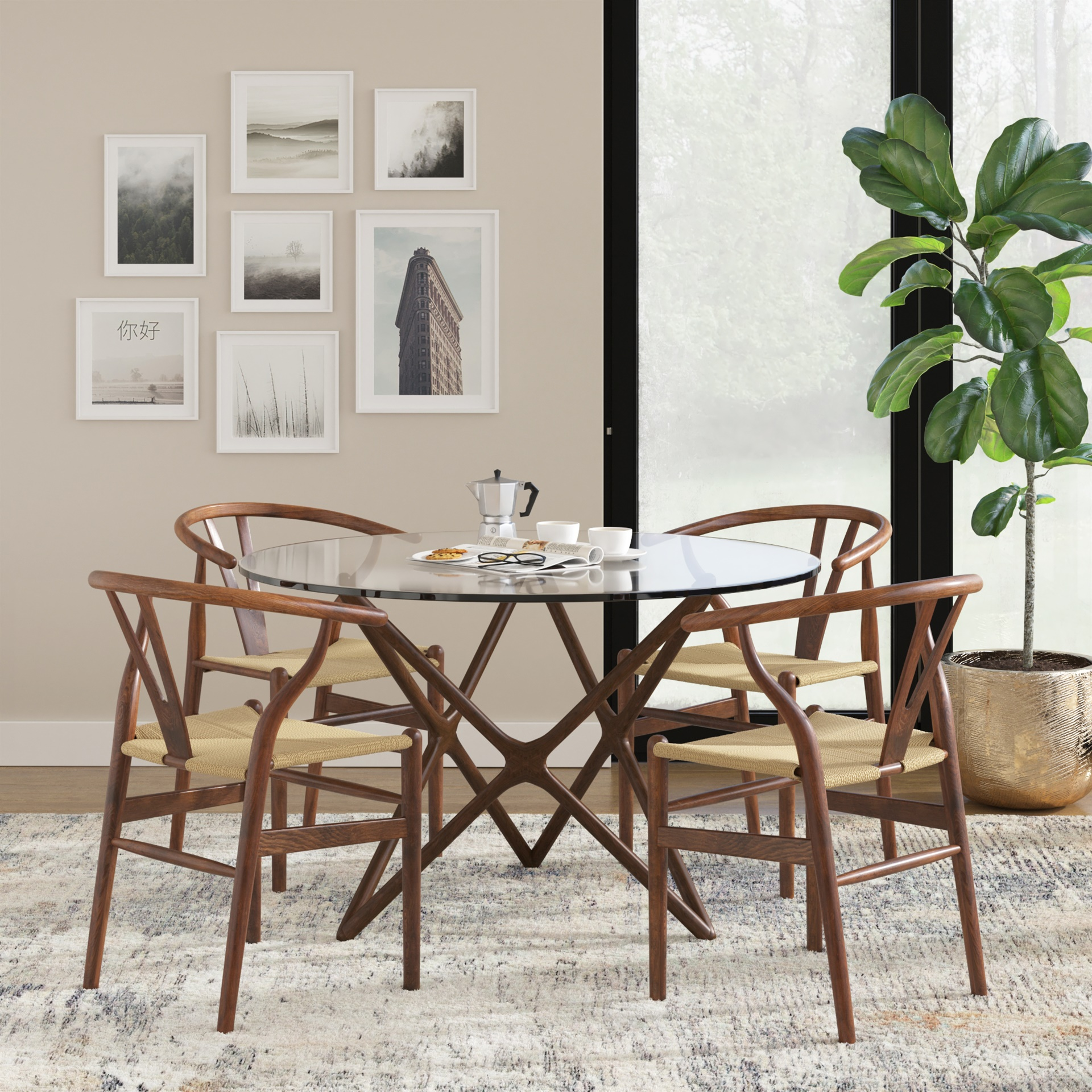 Wishbone Chairs Hans Wegner Ch24 Wishbone Chair