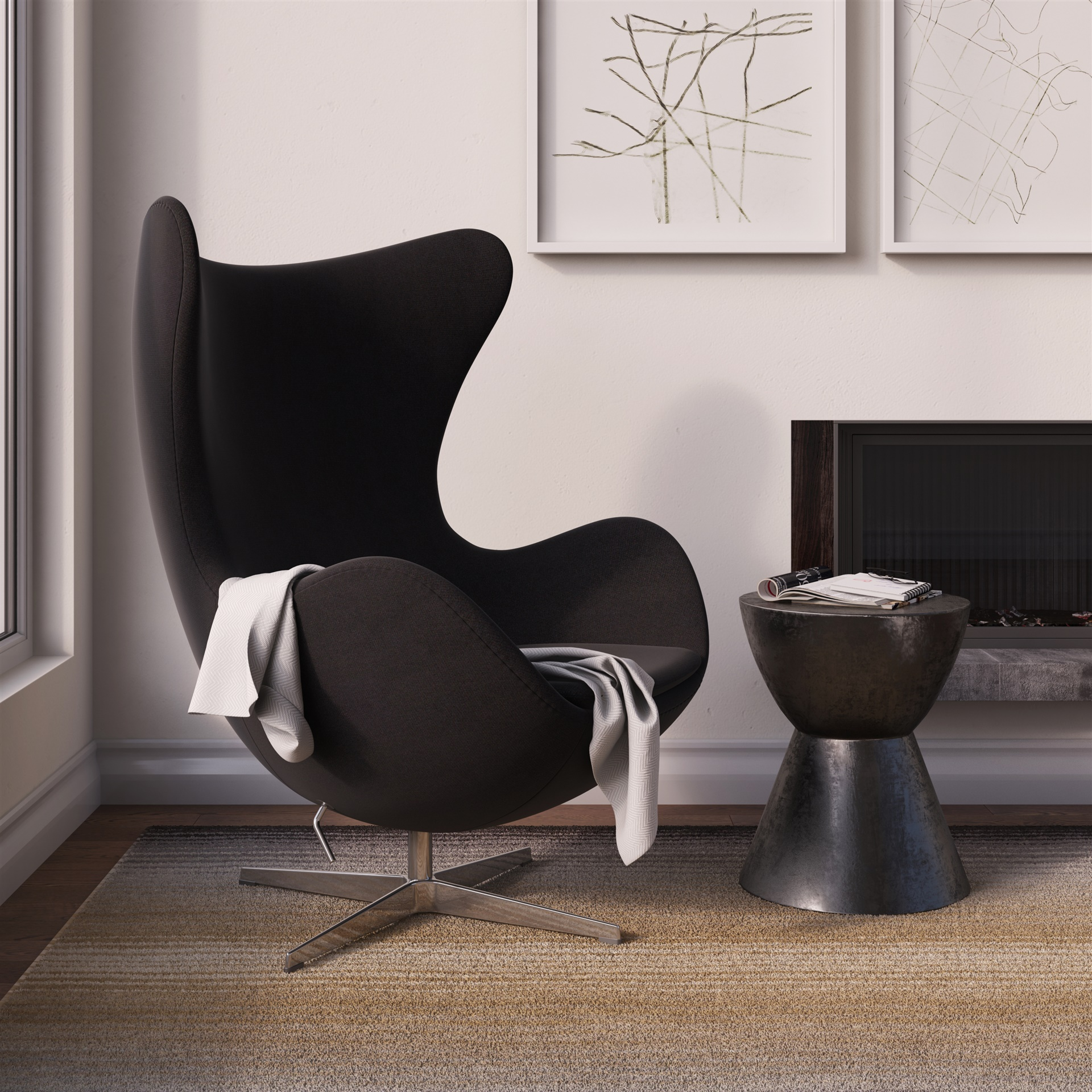 Double Egg Chair Jacobsen Egg Chair