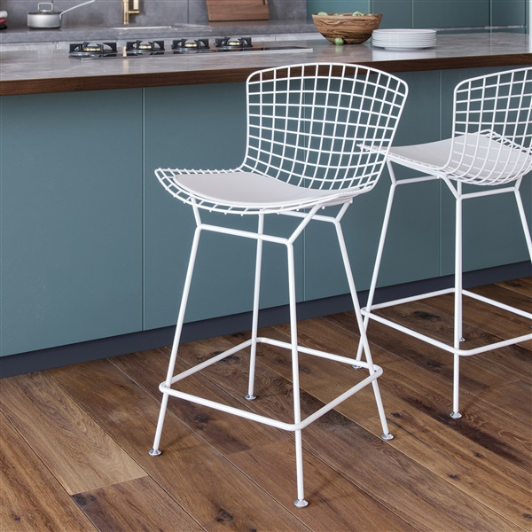 bertoia wire chair original hanging swing stand counter stool double tap to zoom