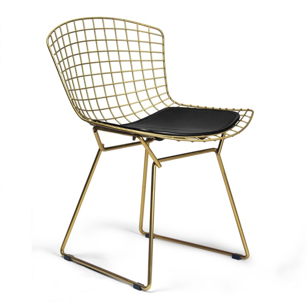 bertoia side chair best back support for office brass double tap to zoom