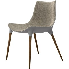 Modloft Dining Chair Forza 6 Gaming Langham Fabric Seat Oatmeal On Dark Teak