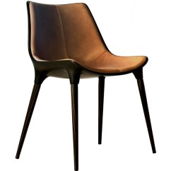 Modloft Dining Chair Little Kid Table And Chairs Langham Leather Seat Caramel On Cathedral Ebony