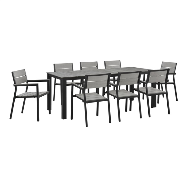 maine 9 piece outdoor patio dining set