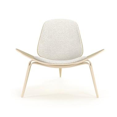 contemporary lounge chairs wooden folding church modern arm hans wegner shell chair