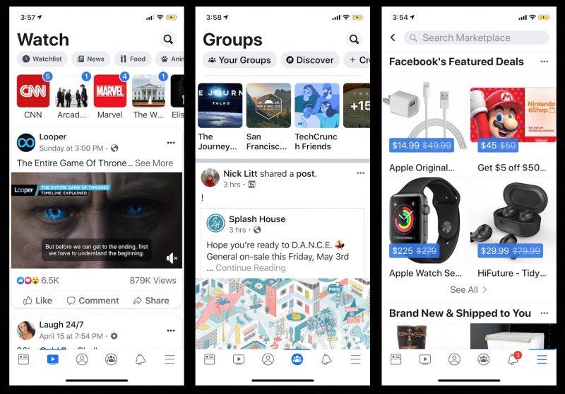 Olha só como o Facebook está fazendo uso de design minimalista em sua nova atualização!