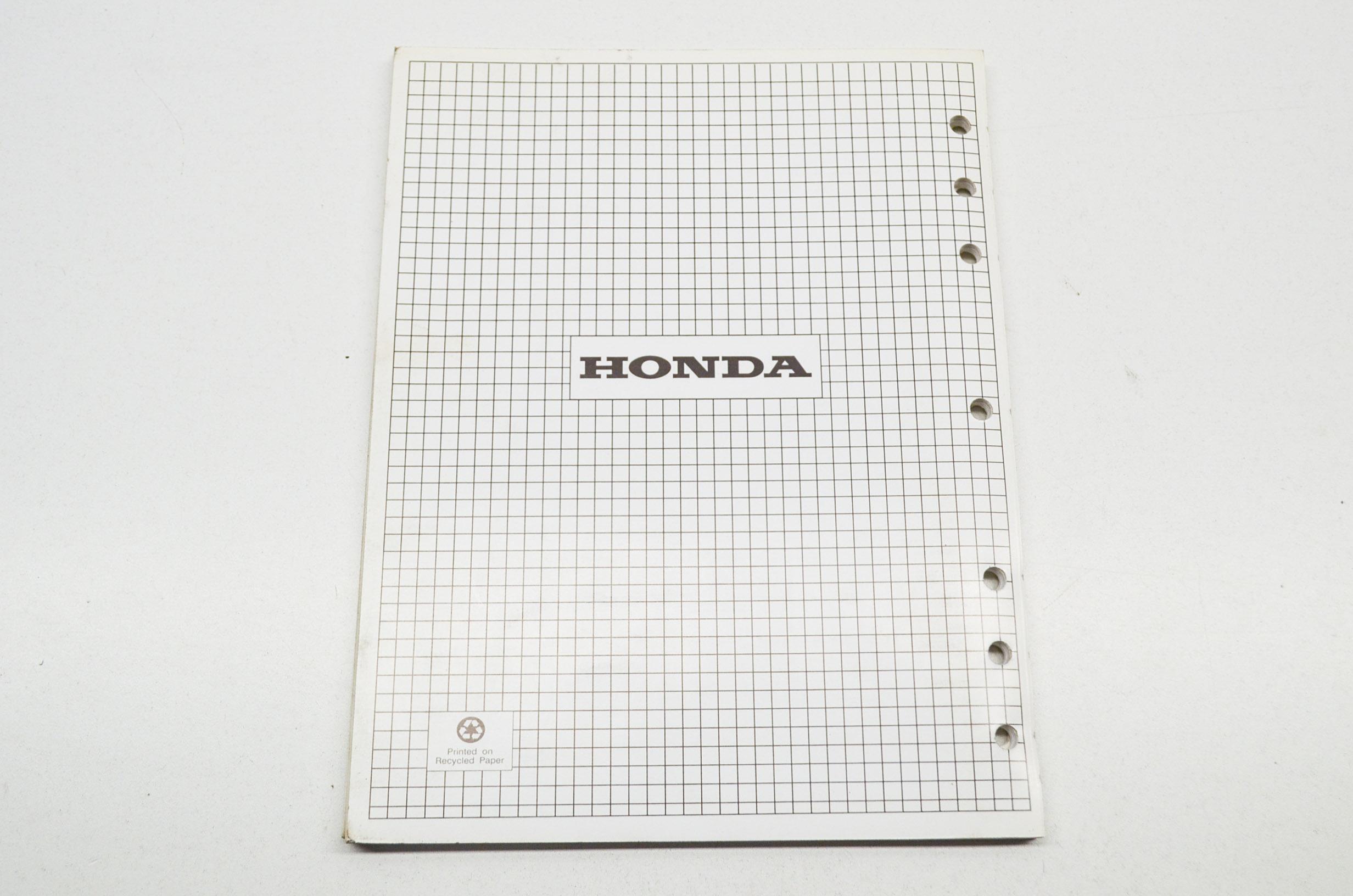 OEM Honda 61ZB101Z Shop Manual Supplement Generator