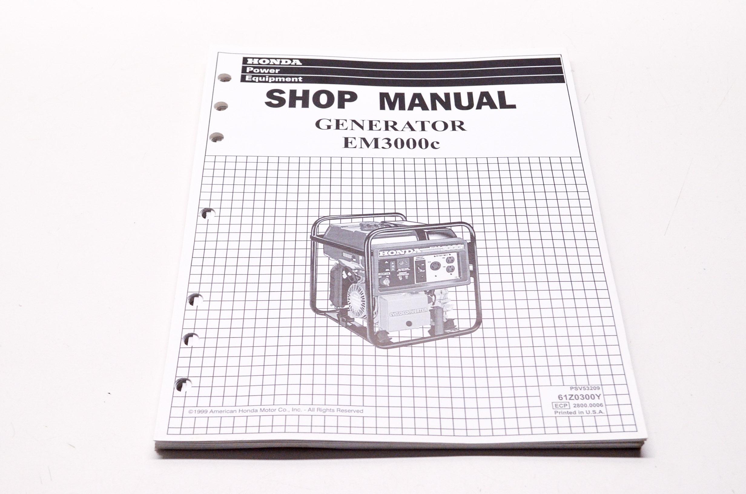 Honda Power Equipment Service Shop Manual Generator