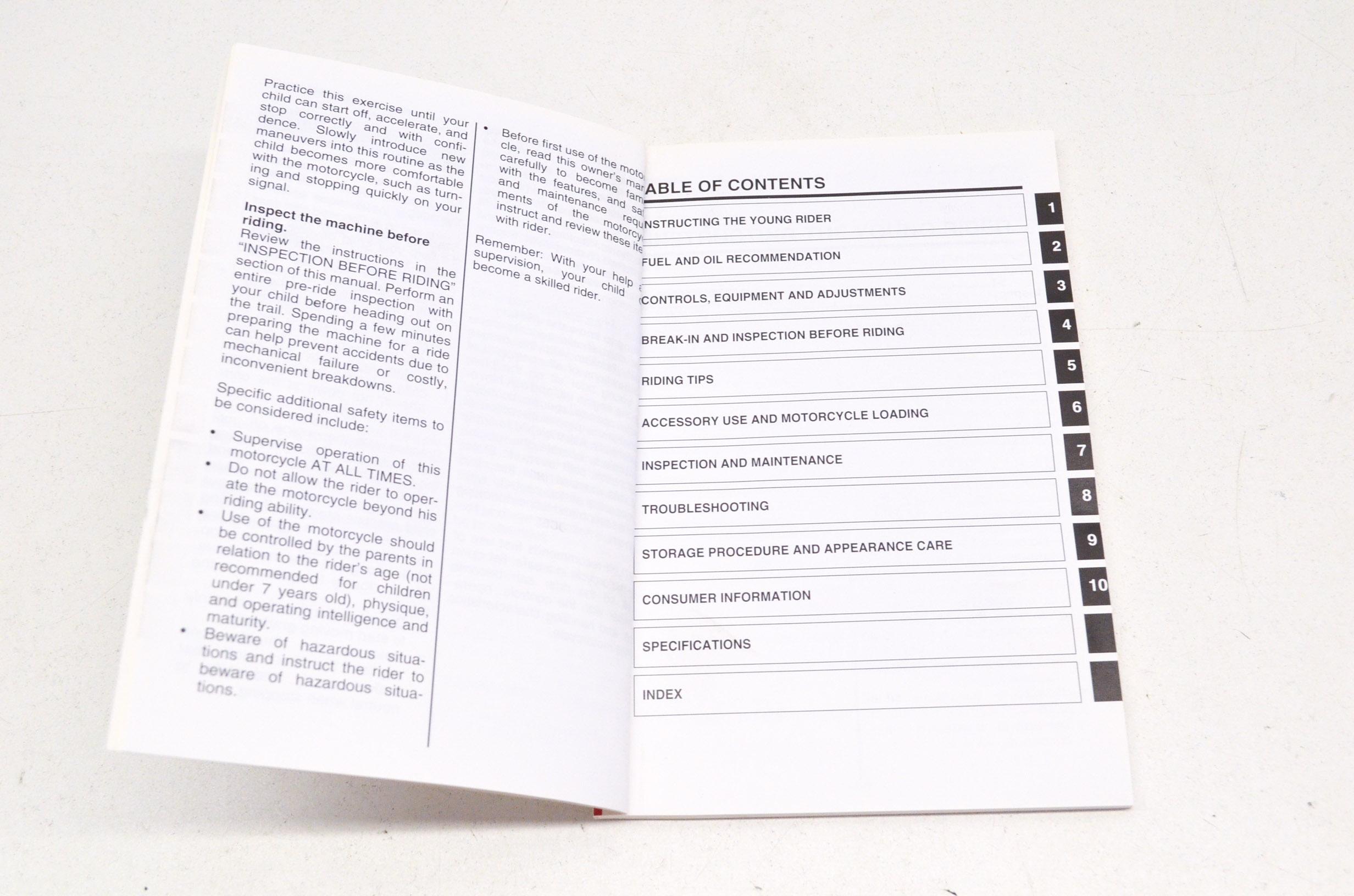 OEM Suzuki 99011-04493-03A Owner's Manual JR50K6 2006 NOS