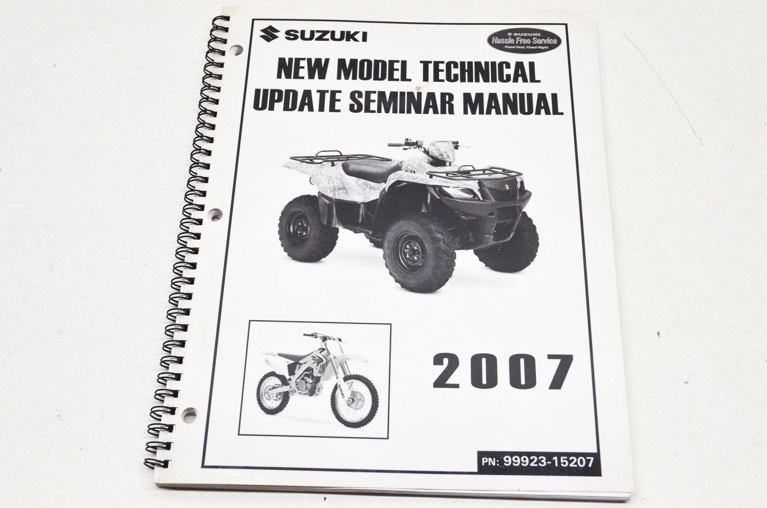 OEM Suzuki 99923-15207 Model Technical Update Seminar 07