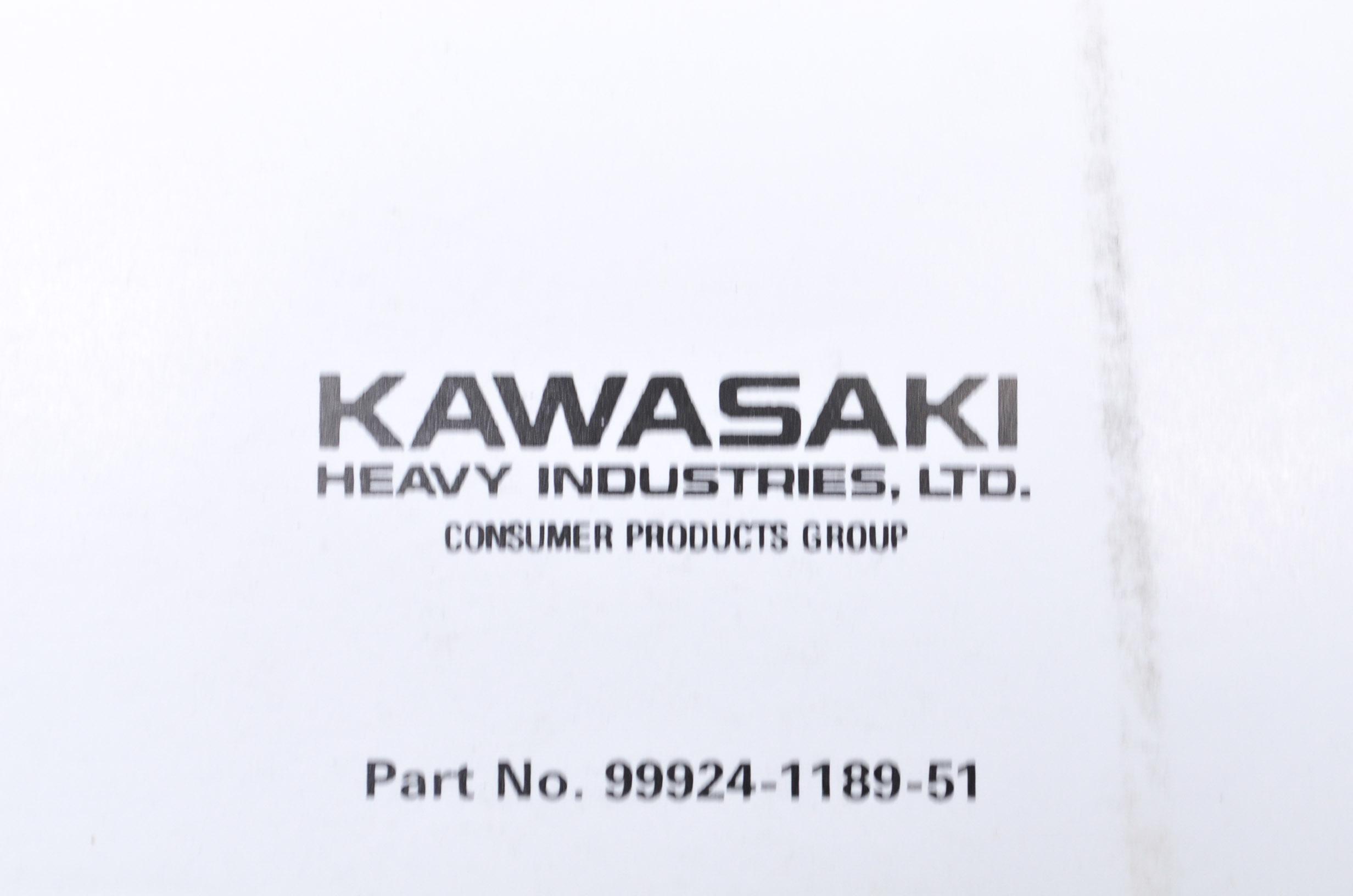 OEM Kawasaki 99924-1189-51 Service Manual Supplement
