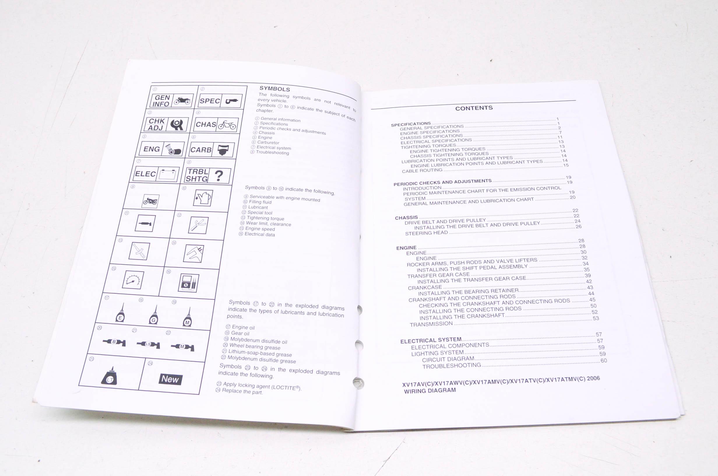 OEM Yamaha LIT-11616-19-45 XV17AV/AWV/AMV/ATV/A Service