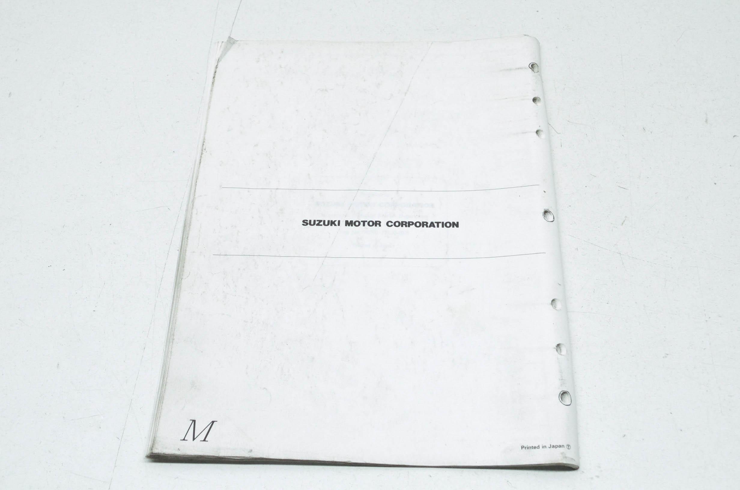 OEM Suzuki 99501-37130-03E GSXR750 Supplementary Service