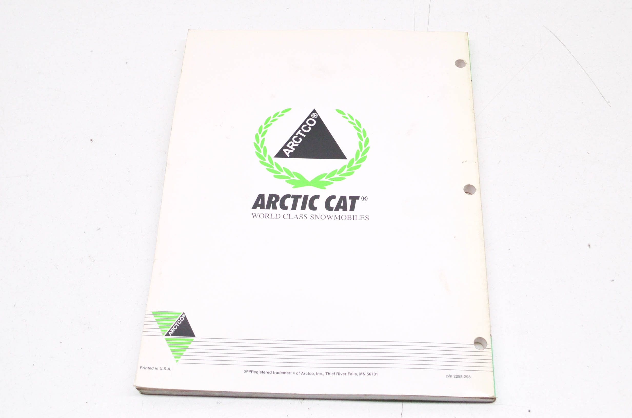 OEM Arctic Cat 2255-298 Service Manual 96 PU/PU DLX/PU 2UP