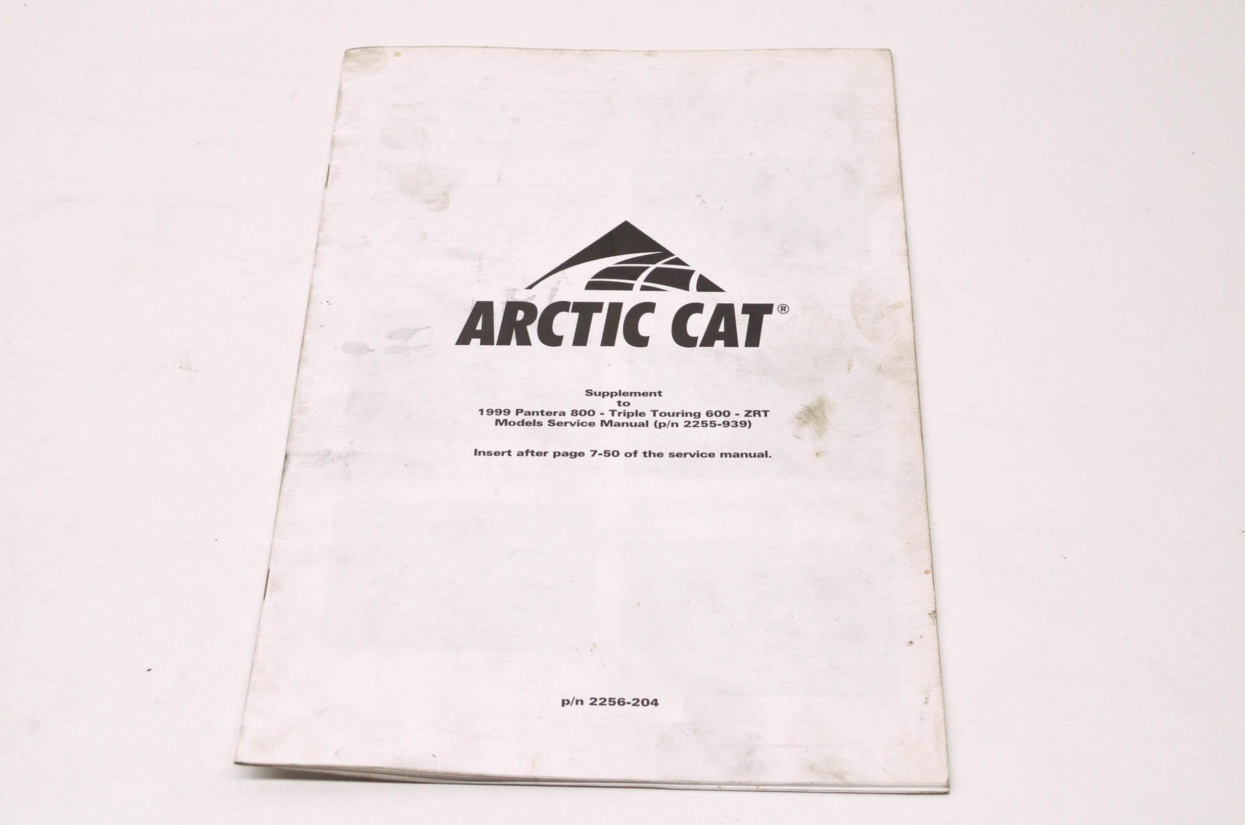 OEM Arctic Cat 2256-204 Service Manual Supplement 99