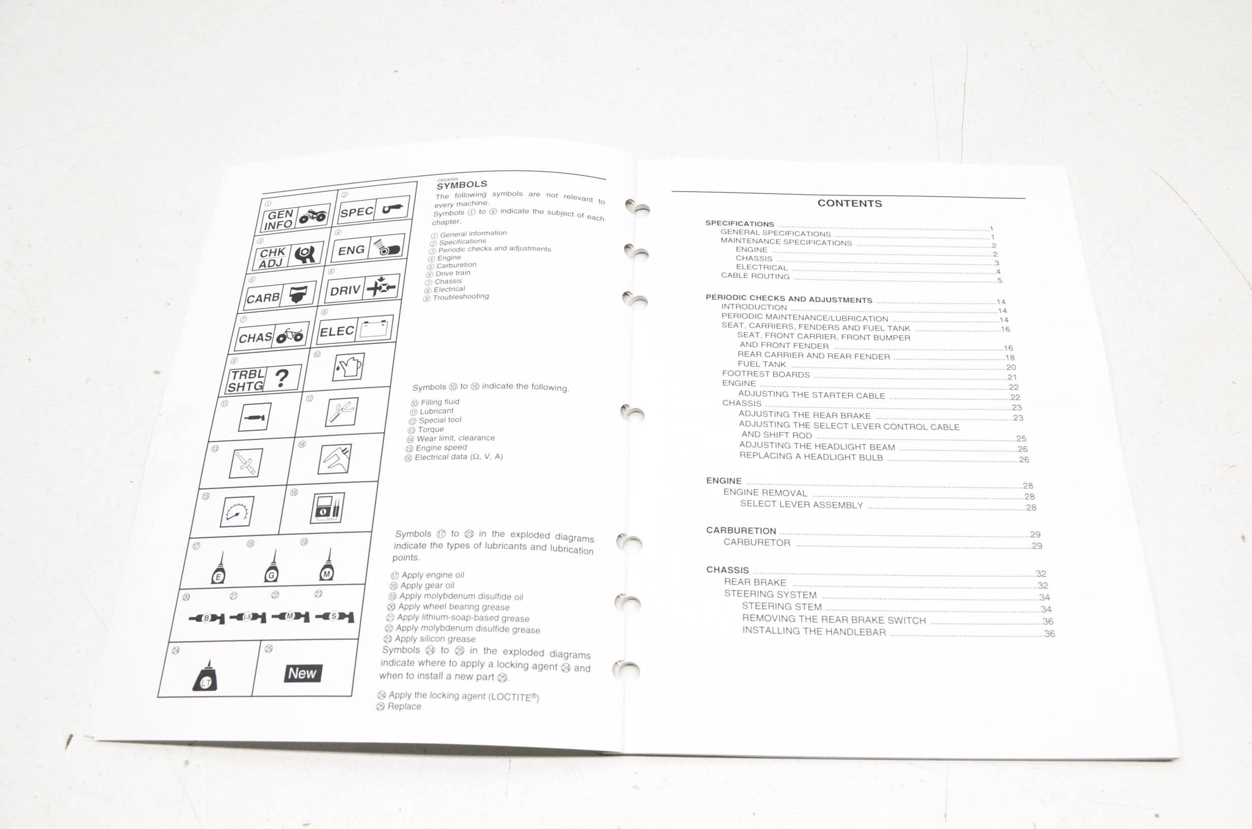 OEM Yamaha LIT-11616-18-41 YFM250BT Service Manual