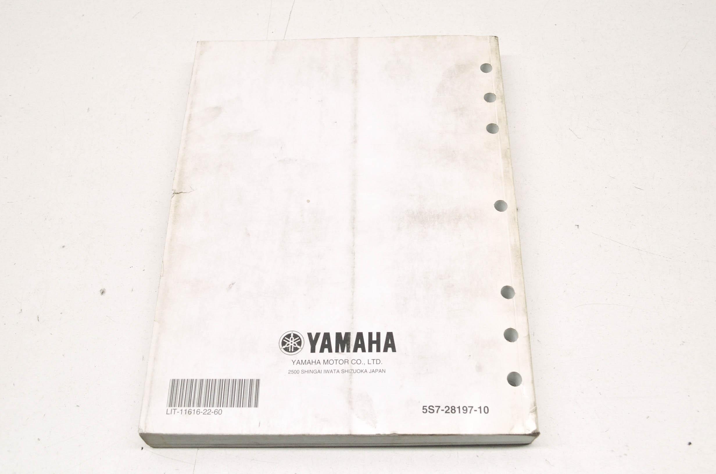 OEM Yamaha LIT-11616-22-60 Service Manual VSTAR 950 XVS95Y