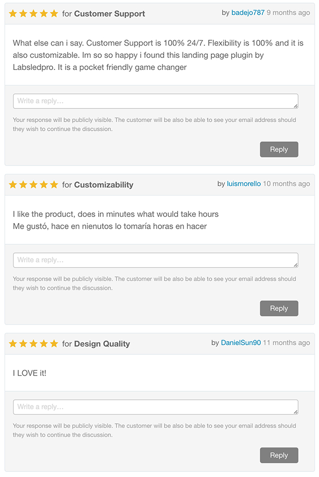 WP Landing Pages Reviews