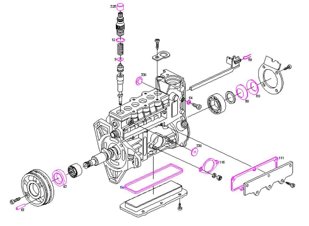 BOSCH diesel pump repair kit seals Mercedes 300D S300 S350