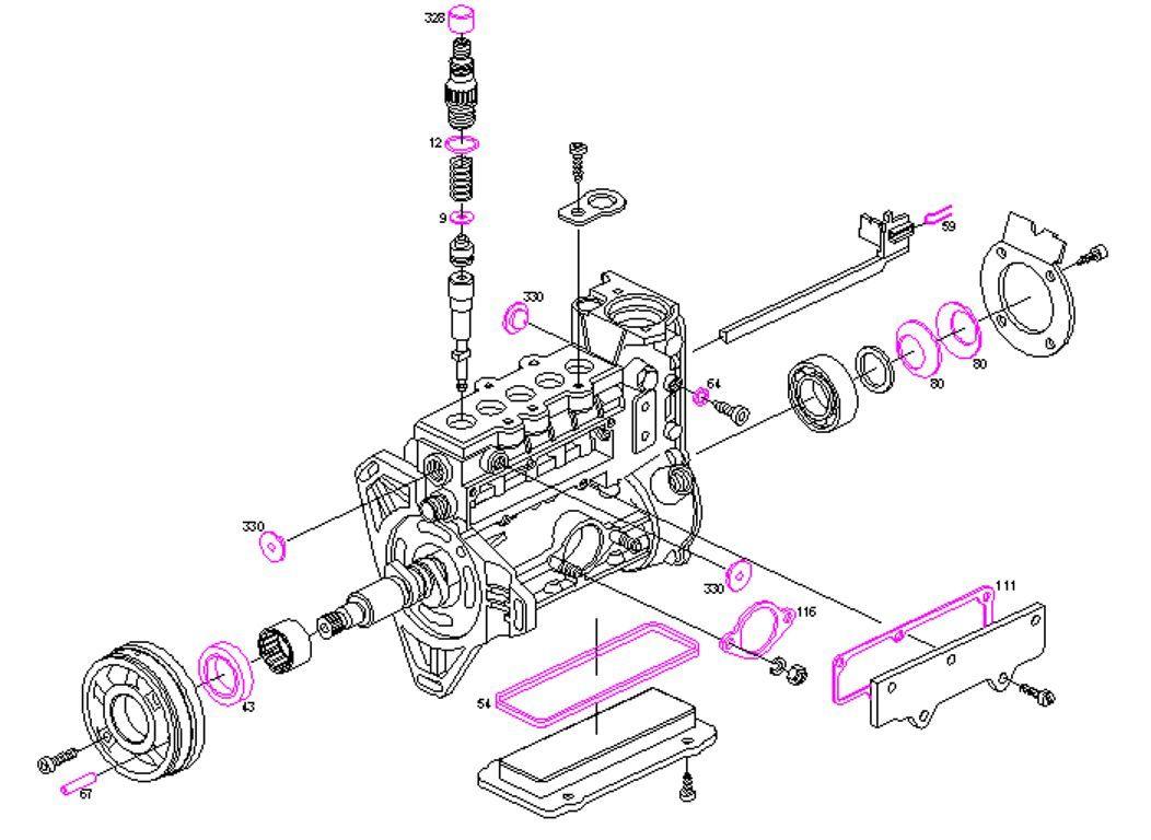 Bosch Bomba de Combustible Kit Reparación Mercedes-Benz 2