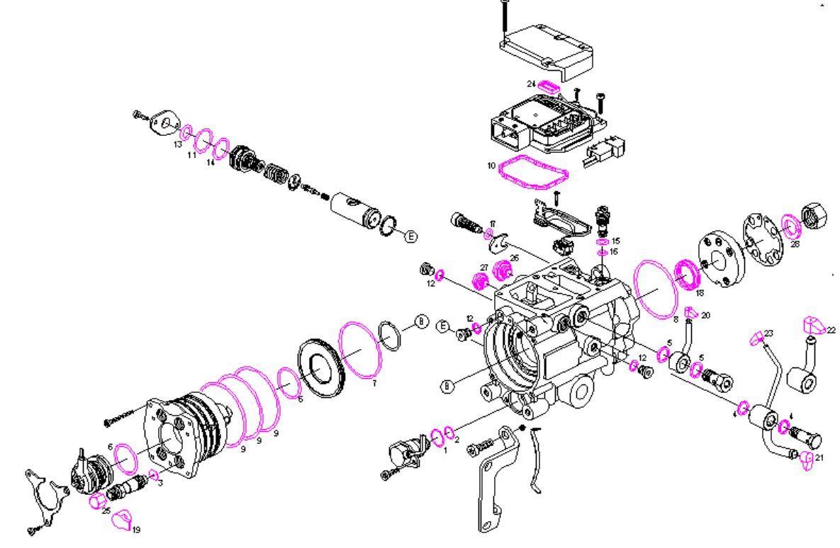 diesel fuel pump VP/VR repair kit/seals kit/gaskets kit