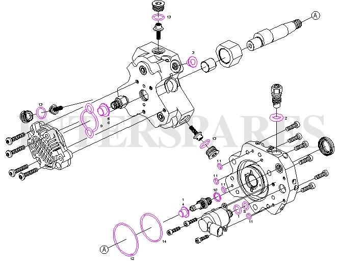 fuel pump repair kit/gaskets kit BMW 118D 320D 520D 525D