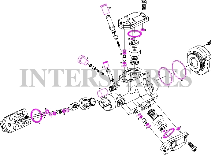 Bosch fuel pump repair gasket kit / o-rings kit Jeep Grand
