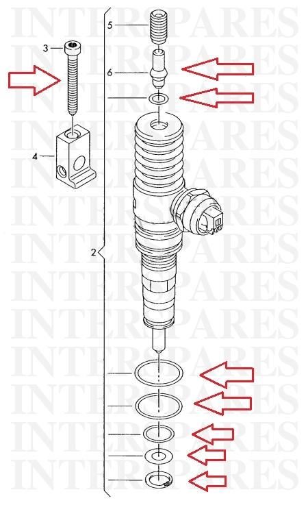 PD injector repair kit + 5 oe screws bolts VW Transporter