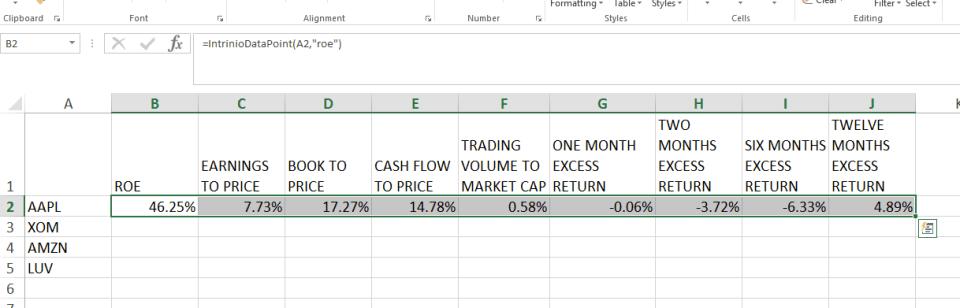 Quant Model With Intrinio Financial Data