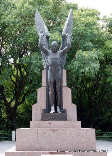 Homenaje a la Hazaña del Plus Ultra, quartier Puerto Madero, Buenos Aires, Argentine