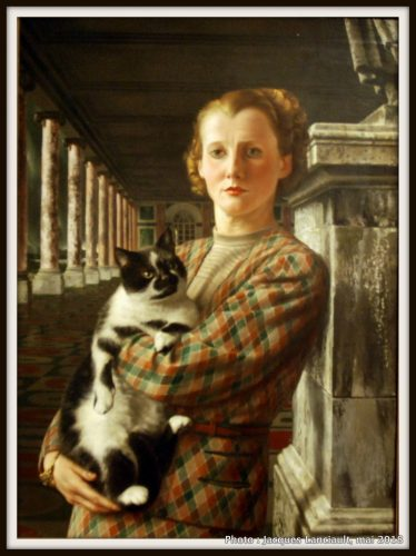 Wilma avec son chat, Rijksmuseum, Amsterdam, Pays-Bas
