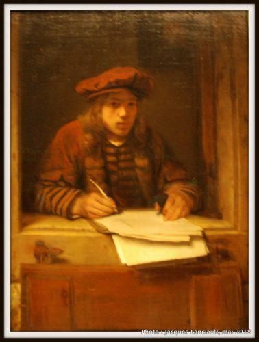 Auto-portrait de Samuel van Hoogstraten, Hermitage Amsterdam, Amsterdam, Pays-Bas