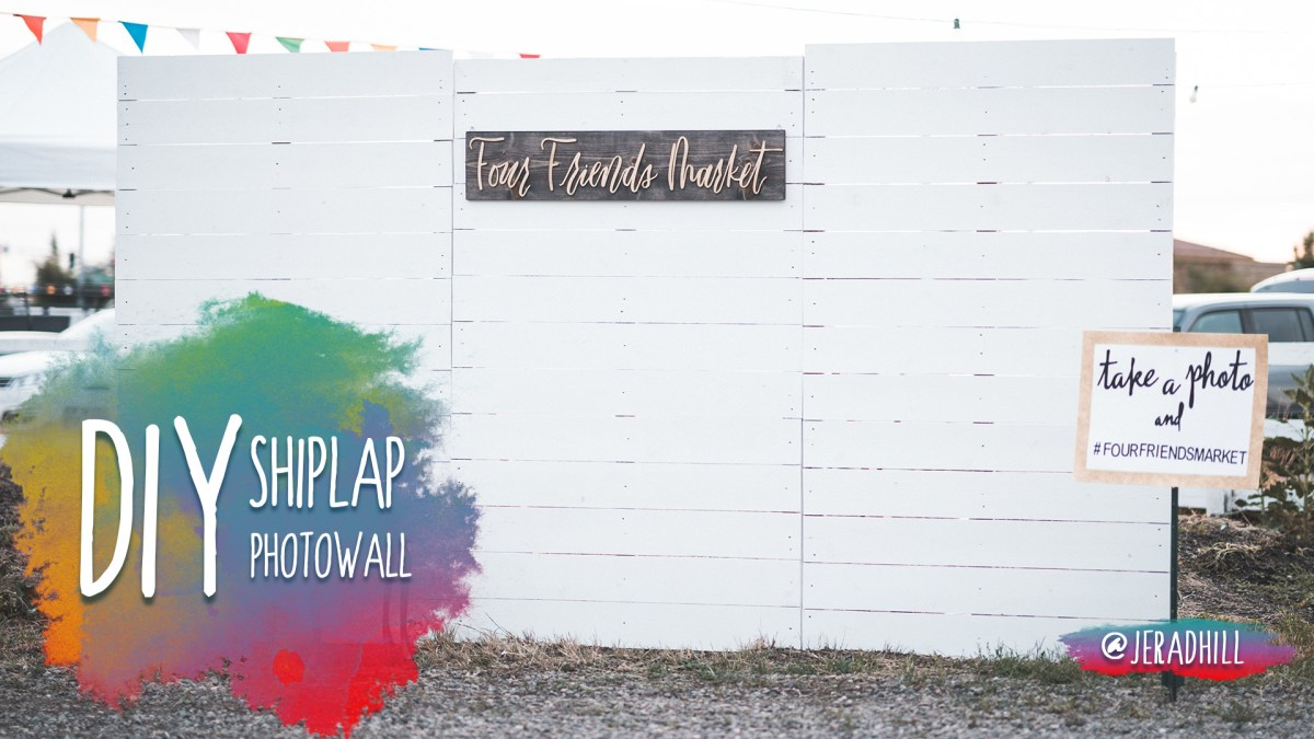 How to Build a Shiplap Photo Wall Backdrop DIY