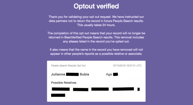 remove yourself from identitypi opt out removal