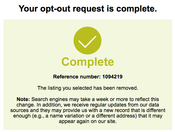 remove yourself from zabasearch opt out removal