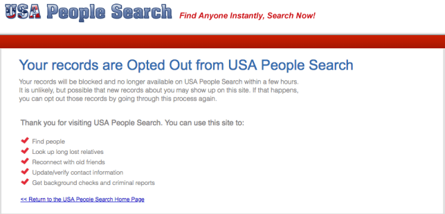 remove yourself from usa people search opt out removal