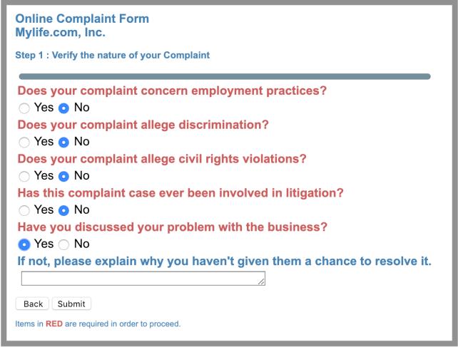 file a complaint better business bureau