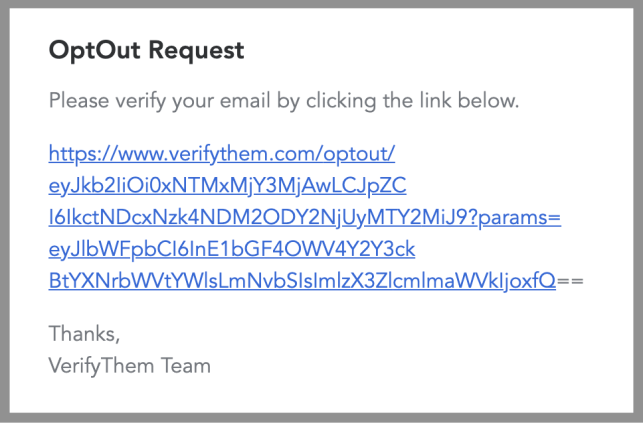 remove yourself from verify them opt out removal