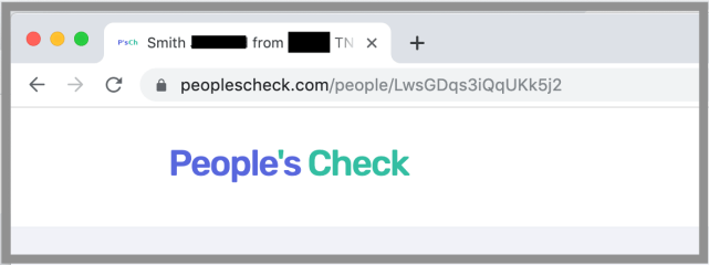 Remove Yourself from People's Check opt out removal