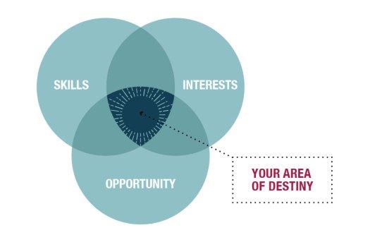 Venn Diagram - Skills, Interests, Opportunities