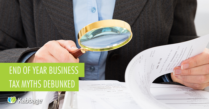 End of Year Business Tax Myths Debunked
