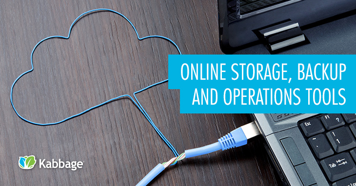 Online Storage, Backup and Operations Tools