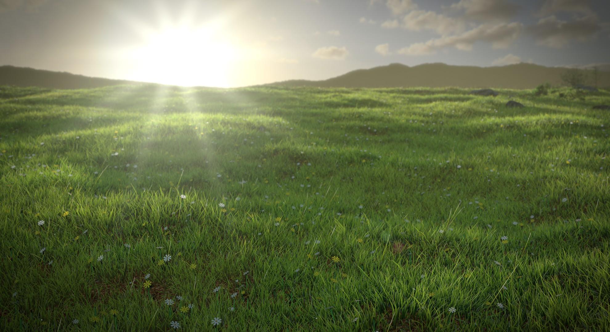 Leunas Blender Guru Speed Modelling A Grassy Meadow