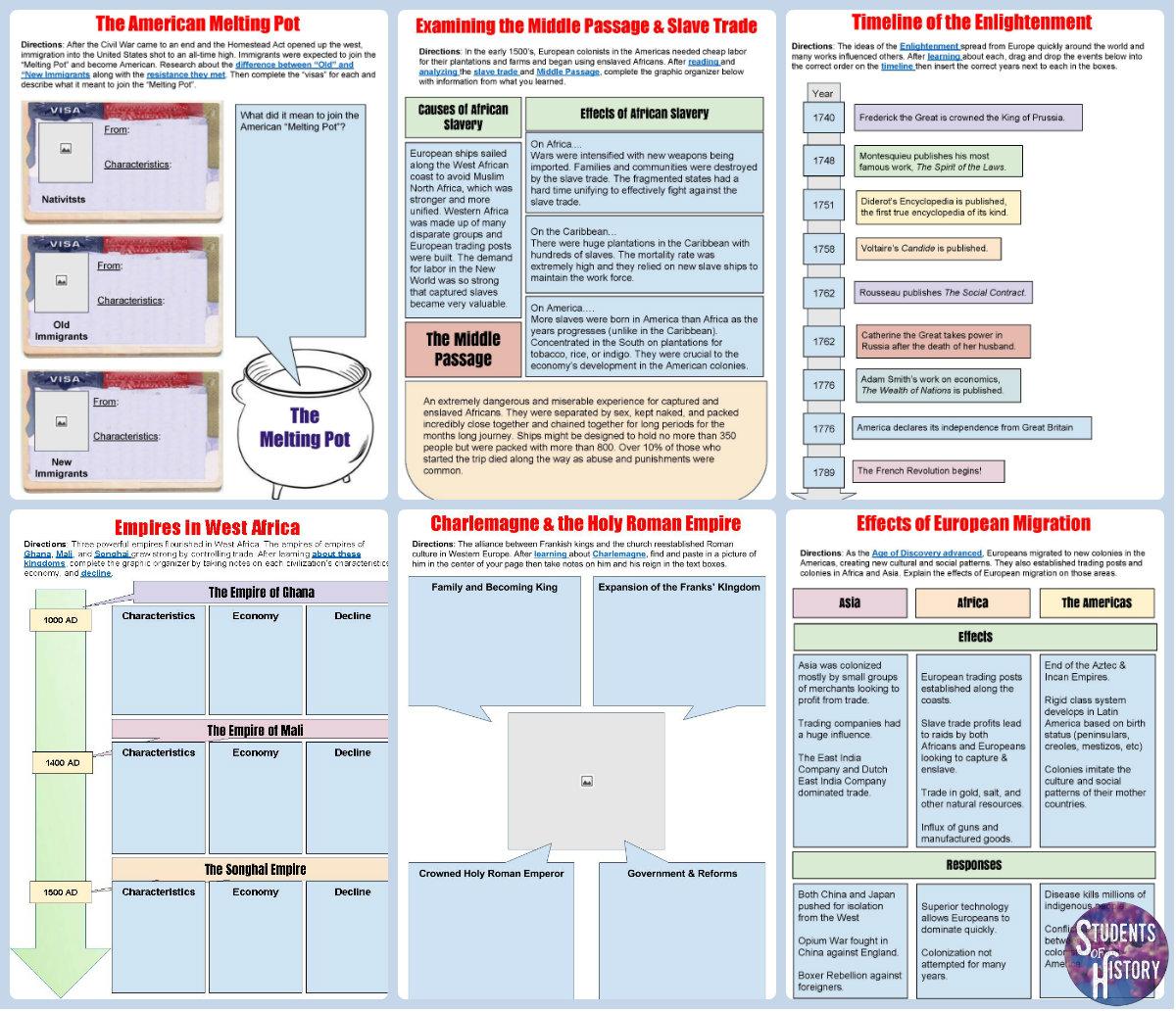 Social Stu S Worksheets For Middle School