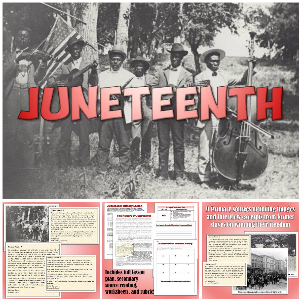 Juneteenth Lesson Plan