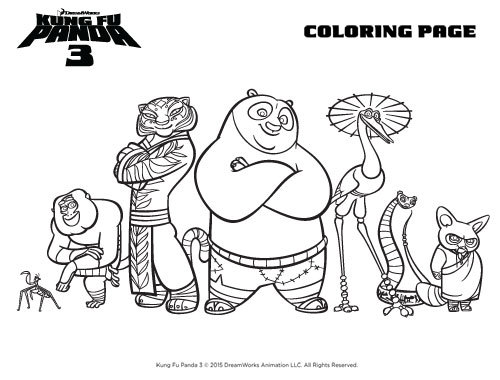 Kung Fu Panda 3 Activity Sheets & Images
