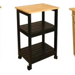 Small Kitchen Carts Tops Wood Cart With Microwave Shelf Butcher Block Top For Kitchens
